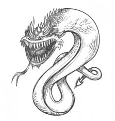 Fierce dragon vector