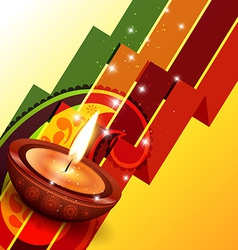 Creative happy diwali design vector