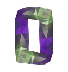 Geometric crystal digit 0 vector
