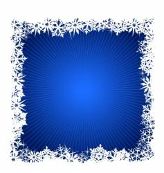 Square blue snowflake background vector