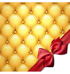 Golden upholstery leather pattern background vector