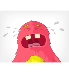 Funny monster cry vector