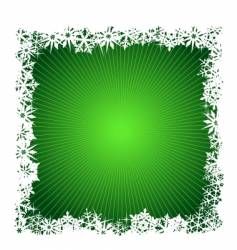Square green snowflake background vector