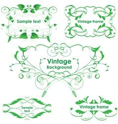 Leaves frames - set design elements vector