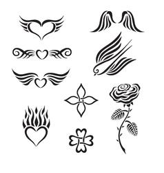 Set of tribal tattoo vector