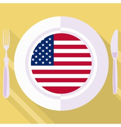 Kitchen of united states vector