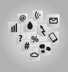 Icons background set telecommunication vector