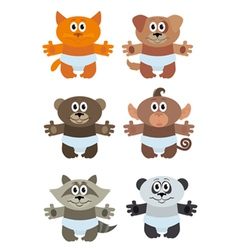 Funny animals baby vector