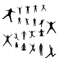 Jumping peoples vector
