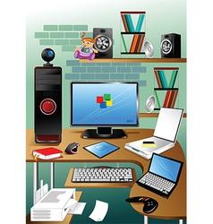 Desktop cartoon vector
