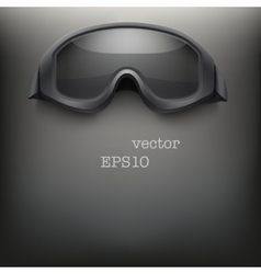Background of black goggles vector