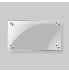 Glass rectangle plane vector