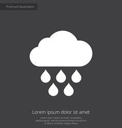 Cloud rain premium icon white on dark background vector