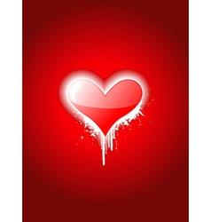 Simple heart attractive design vector