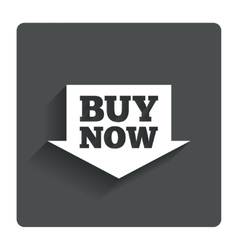 Buy now sign icon online buying arrow button vector
