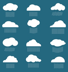 Cloud and rain vector
