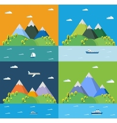 Set landscape vector