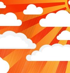 Rain clouds with sun vector