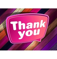 Thank you poster on a wooden eps 10 vector