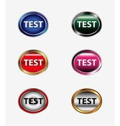 Test icon internet button vector