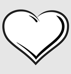 Black and white heart symbol vector