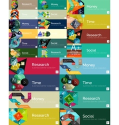 Mega collection of flat design infographic banners vector