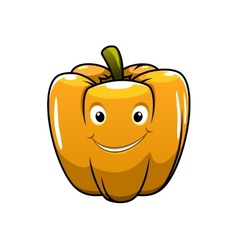Smiling orange cartoon pepper vector