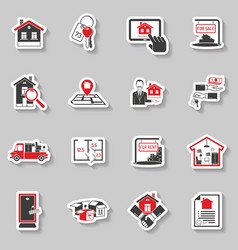 Real estate sticker set vector