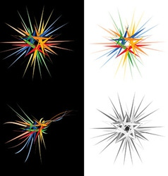 Abstract star design element vector