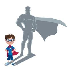 Boy superhero concept vector