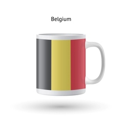 Belgium flag souvenir mug on white background vector