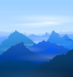 Majestic blue mountains vector