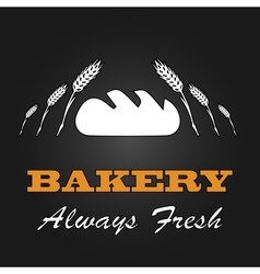 Fresh bread vintage design menu poster vector
