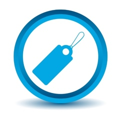 Blue price tag icon vector