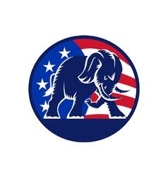 Republican elephant mascot usa flag vector