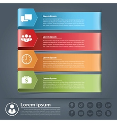 Arow business infographics vector