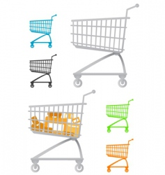 Shopping chart vector