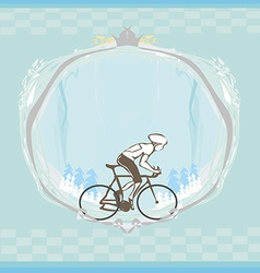 I love cycling banner - abstract frame with space vector