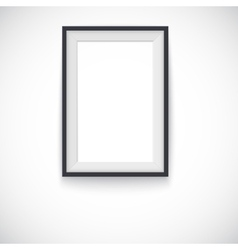 Picture wood frame vertical for image or vector