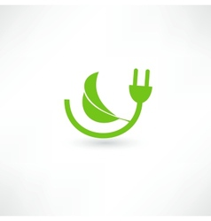 Green energy concept sign vector