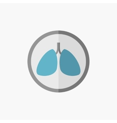 Lungs flat icon vector
