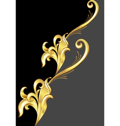 An abstract gold pattern vector