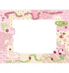Child photo frame vector