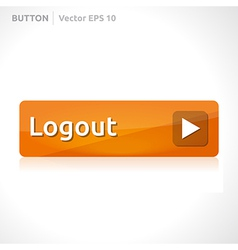 Logout button template vector