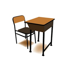 Student chair used in the classroom with the stand vector