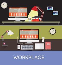 Workplace design vector