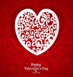 Delicate valentine card applique vector