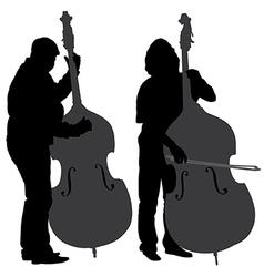 Bass player silhouette vector