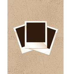 Grunge polaroid vector