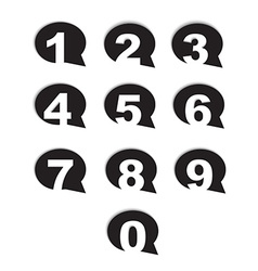 Bubble conversation numbers icons set vector
